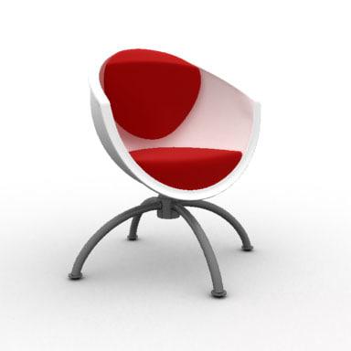 armchair ikea gubbo swivel chair 3d model
