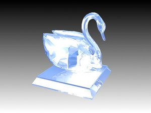 3d model of crystal swan