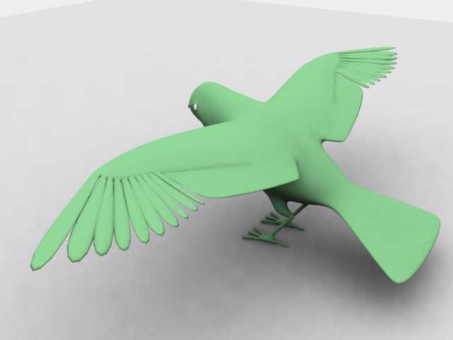 3d saffron bird model
