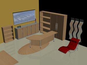 3d model modern office