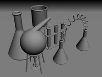 science equipment 3d model