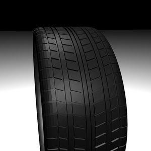 3d tire polys model