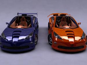 vector concept car 3d model