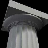 3ds max doric column