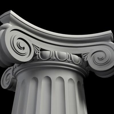 ionic columns 3d 3ds