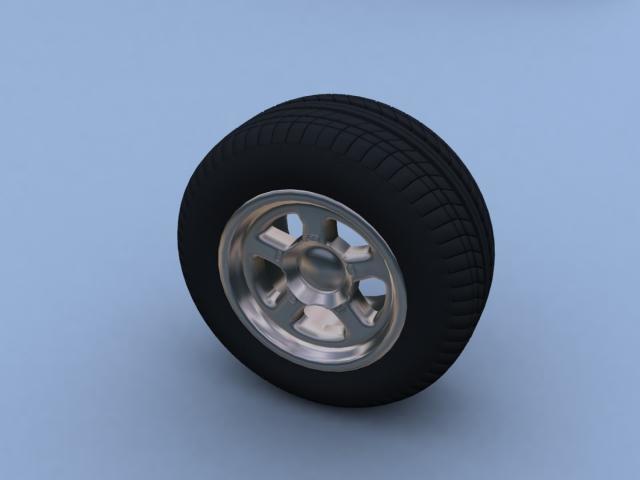3ds max wheel tire