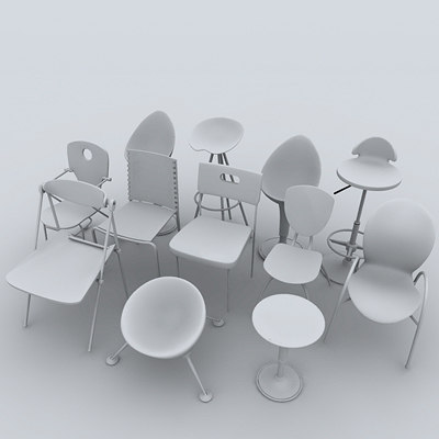3d max chairs