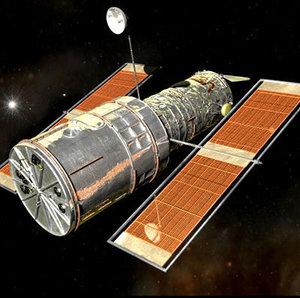 3d model hubble astronaut