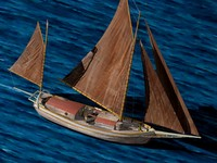 joshua slocum spray sloop 3d model