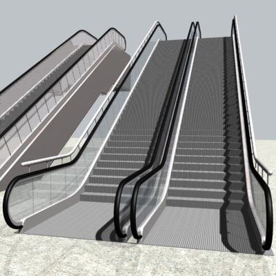 escalator stairs 3d model