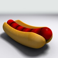 hot-dog bun quads 3d model