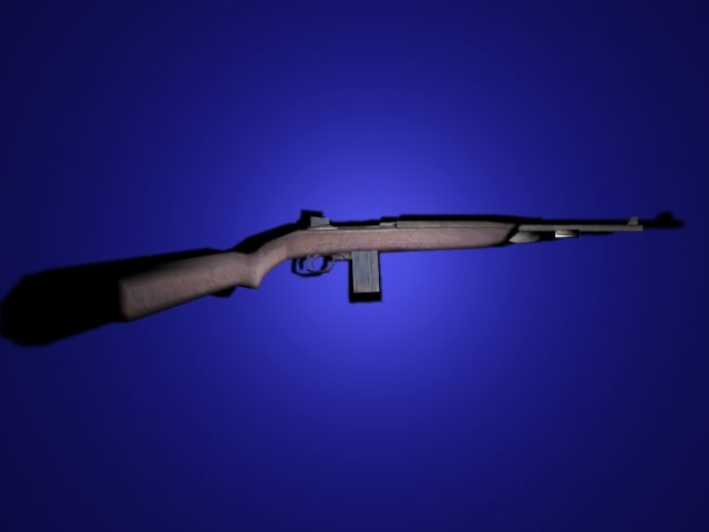 m1 carbine rifle ww2 3d model