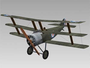3ds world war fighter sopwith triplane