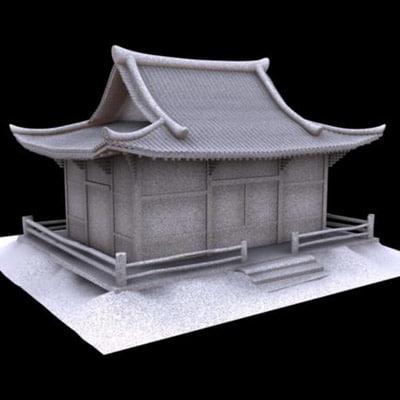 3d daiguji building temple model