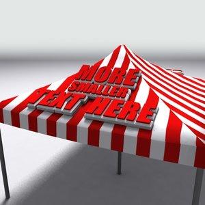 3d model tent editable text