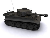 tiger german tank 3d max