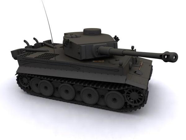 tiger german tank 3d max