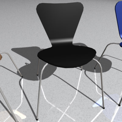3d model of bilbao designer chair