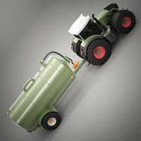 Farm Tractor & Tank Trailer