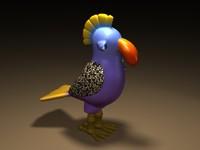 3d model bird lightwave