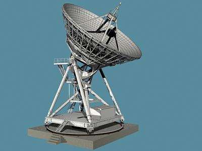 3d max radiotelescope telescope