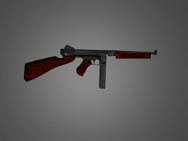 thompson weapon 3d model
