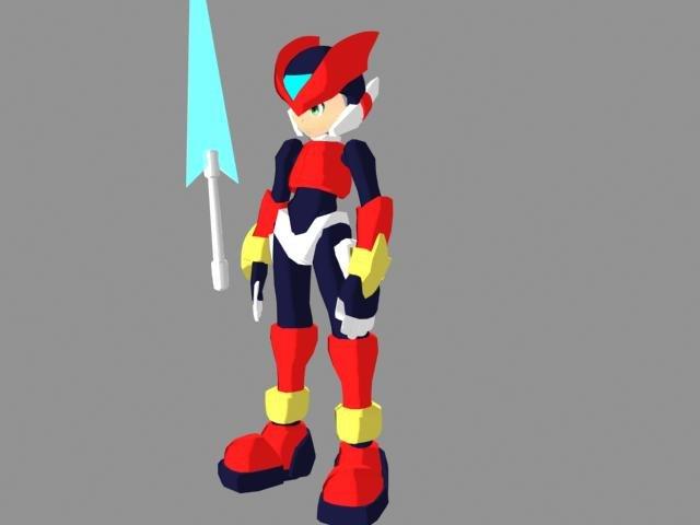 free zero animation 3d model