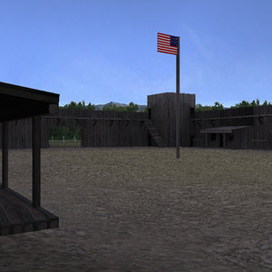 wild west fort 3d model
