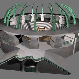 medieval gladiator arena 3d model