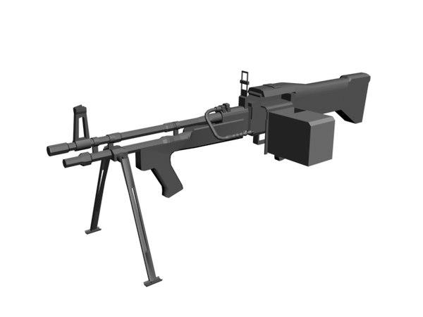 3ds max m60e3 machine gun