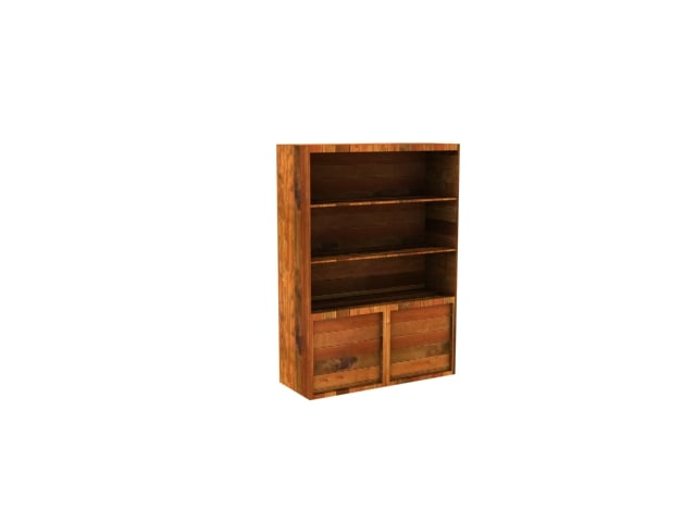 bookcase wood 3ds