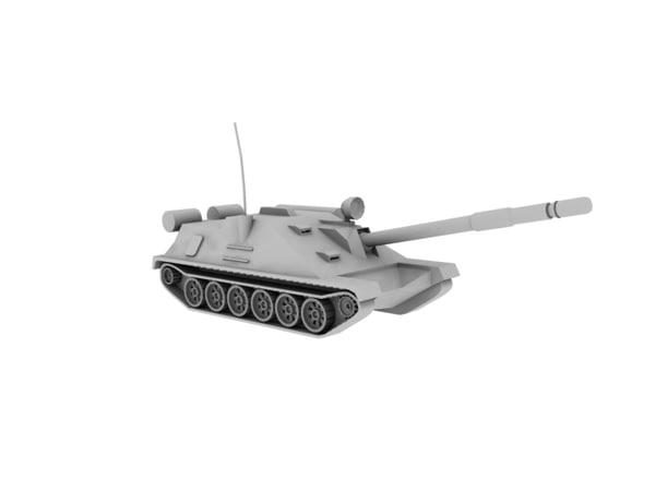 russian asu-85 howitzer 3d model
