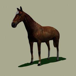 3d horse