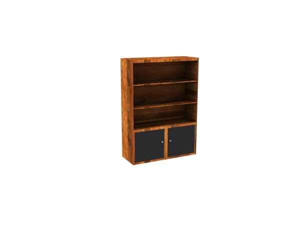 3d model of bookcase cabinet