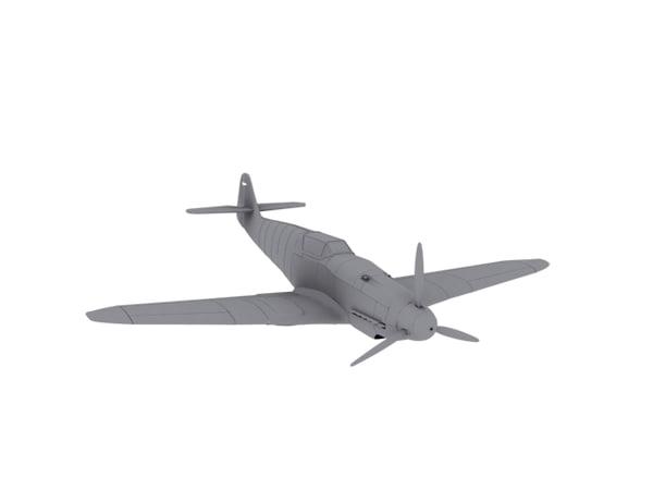3d bf109g-10 messerschmitt model
