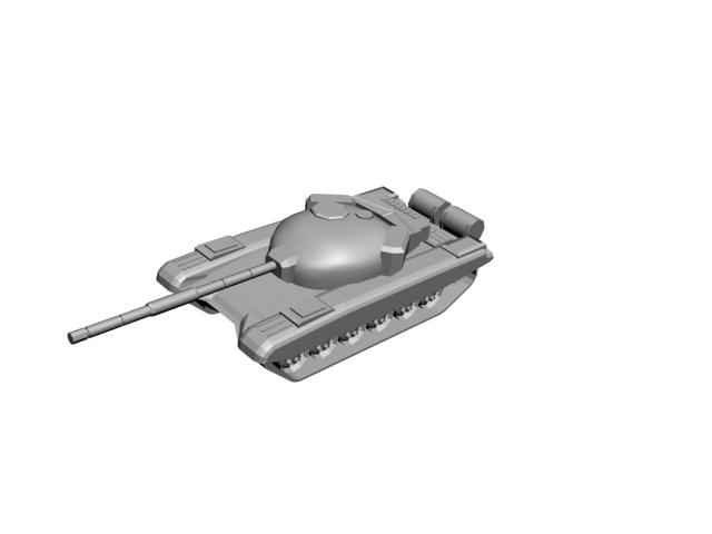 free 3ds model t-72 battle tank