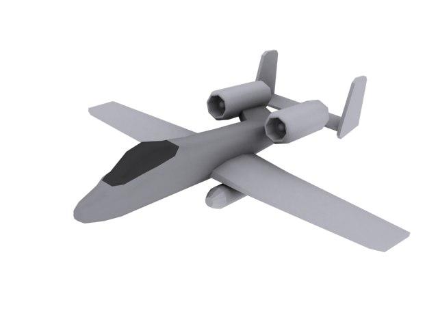 free a10 thunderbolt 3d model