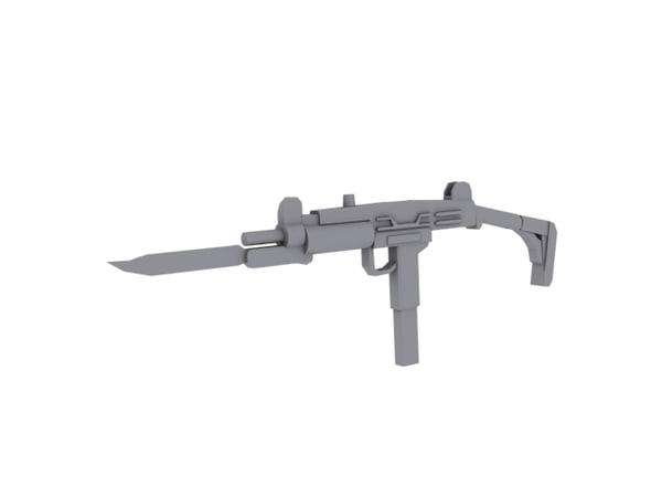 uzi bayonet 3d model