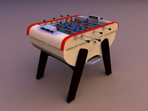 3d fussball table model