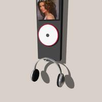 cd listening station 3d model