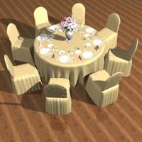 set table 3d model