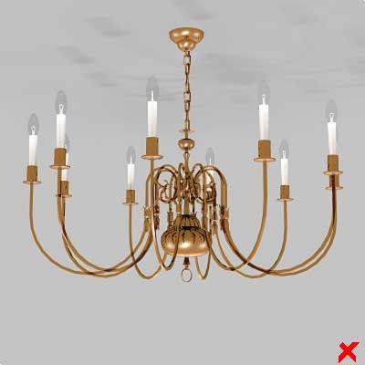 3d model of chandelier light