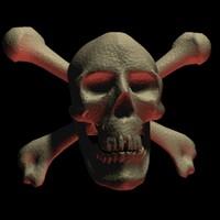 pirates skull 3d model