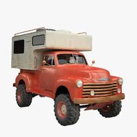 Vintage Camper Truck