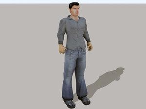 3d character latin hispanic rigged model