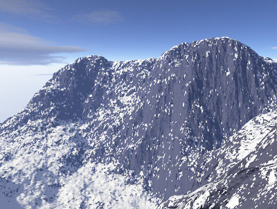 3ds max displacement mountains snow