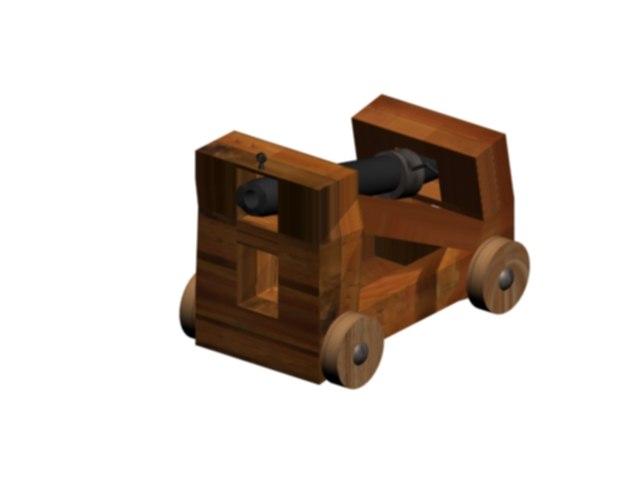 free cannon tudor 3d model