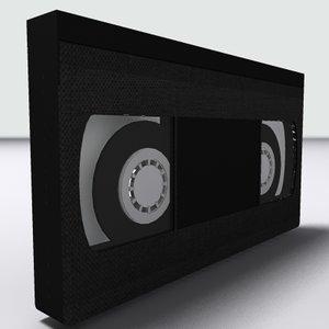 3d vhs tape model