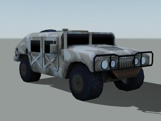 3d military humvee model