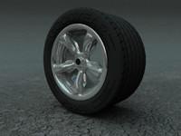 3ds max wheel rim tire